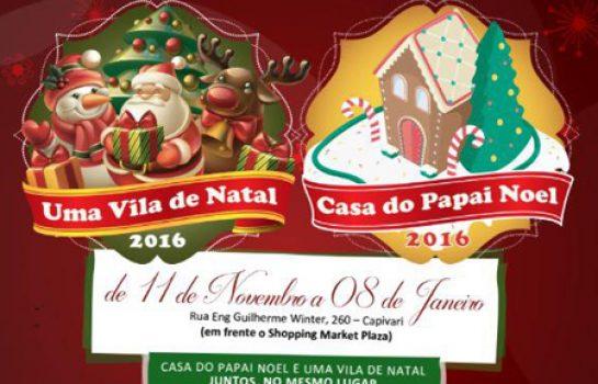 Vila de Natal e Casa do Papai Noel estarão juntas no Natal 2016 em Campos do Jordão