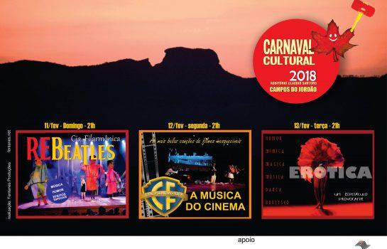 Música e Teatro são atrações do Carnaval Cultural em Campos do Jordão