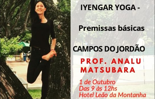 Workshop de Iyengar Yoga em Campos do Jordão