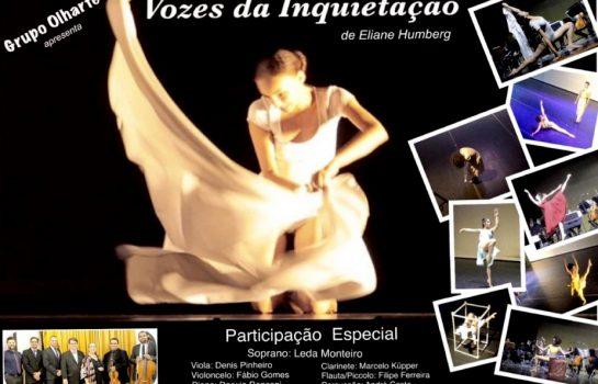 Espetáculo de dança Vozes da Inquietação tem entrada gratuita no Auditório