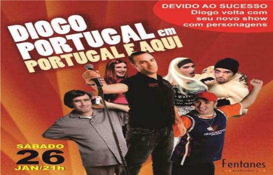 Diogo Portugal apresenta espetáculo de Comédia em Campos do Jordão em Janeiro