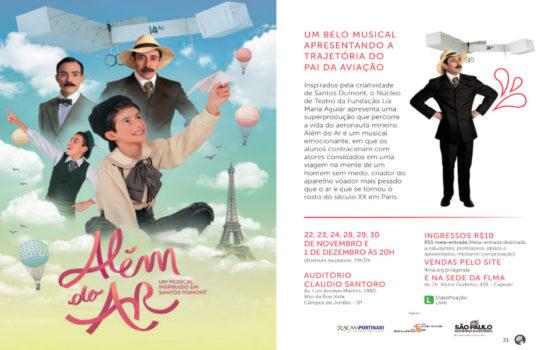 Além do Ar – Um Musical Inspirado em Santos Dumont 22/11/2019
